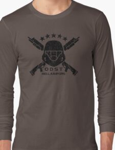ODST Helljumpers (Black Distressed) Long Sleeve T-Shirt