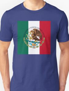 Flag of Mexico (augmented scale) with Coat of Arms (overlaid) Unisex T-Shirt