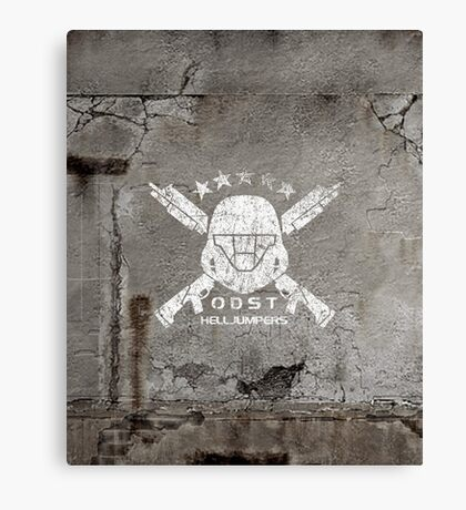 ODST Helljumpers (White Distressed) Canvas Print