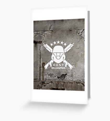 ODST Helljumpers (White) Greeting Card