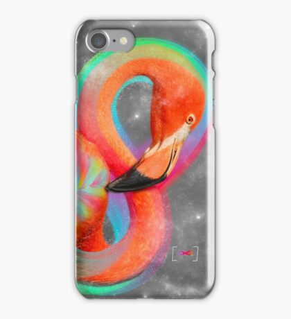 Infinite Possibilities - (Neon Infinity Flamingo) iPhone Case/Skin