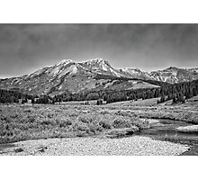 Ruby Range in Black and White #3 Photographic Print
