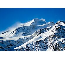 Windy Grand Motte Summit - Tignes Photographic Print