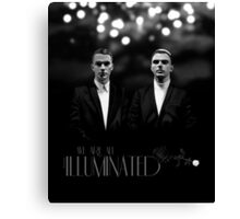 We Are All Illuminated (BW) - HURTS  Canvas Print