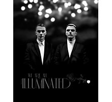 We Are All Illuminated (BW) - HURTS  Photographic Print