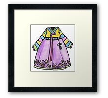 Hanbok - Korean Traditional Dress Framed Print