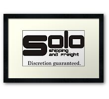 Solo Shipping and Freight Framed Print