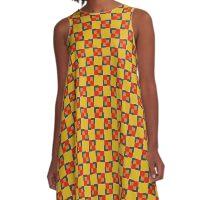 Geometric Squares A-Line Dress