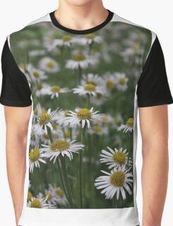 White Daisies Field Graphic T-Shirt