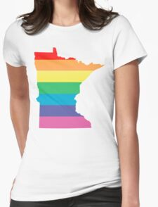 rainbow minnesota Womens Fitted T-Shirt