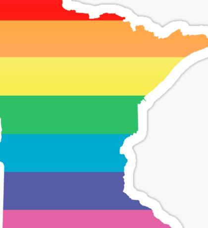 rainbow minnesota Sticker