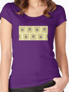 Topsy Turvy Tulips Yellow Edition Women's Fitted Scoop T-Shirt