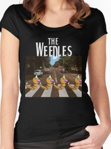 The Weedles on Abbey Road Women's Fitted Scoop T-Shirt