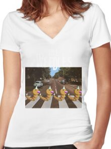 The Weedles on Abbey Road Women's Fitted V-Neck T-Shirt