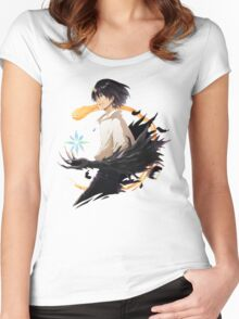 Howl and Calcifer  Women's Fitted Scoop T-Shirt