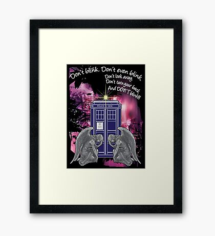 Weeping For The Tardis Framed Print