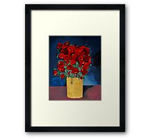 RED Poppies for Peace  Framed Print
