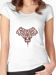 Cork and carnelian swirl Women's Fitted Scoop T-Shirt