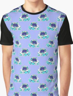 Blueberry Turtle Pattern Graphic T-Shirt