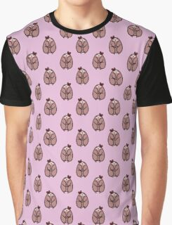 Bow Sloth Pattern Graphic T-Shirt