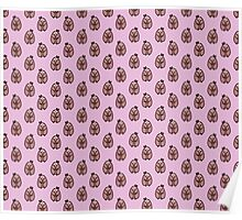 Bow Sloth Pattern Poster