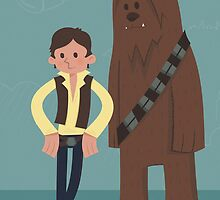 Han & Chewie, The Rogues by mrninja13