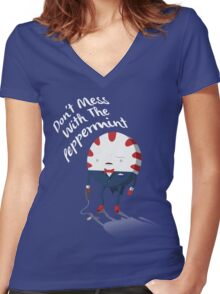 Peppermint Bond Women's Fitted V-Neck T-Shirt
