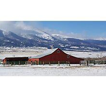 Westcliffe Landmark - The Red Barn Photographic Print