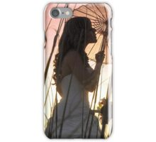 Bride at sunset iPhone Case/Skin