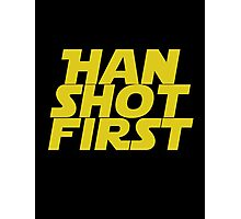 Han Shot First Photographic Print