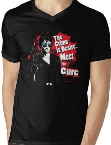The crime is Desire. Meet the Cure. Mens V-Neck T-Shirt