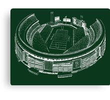Shea Stadium - New York Jets Stadium Sketch (Green Background) Canvas Print