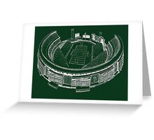 Shea Stadium - New York Jets Stadium Sketch (Green Background) Greeting Card