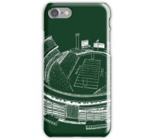 Shea Stadium - New York Jets Stadium Sketch (Green Background) iPhone Case/Skin