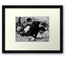 Cap Nap. Framed Print