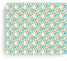 Colorful Frog Pattern Canvas Print