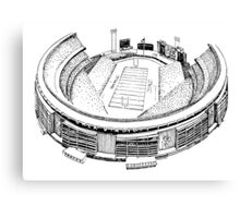 Shea Stadium - New York Jets Stadium Sketch (White Background) Canvas Print
