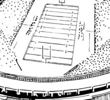 Shea Stadium - New York Jets Stadium Sketch (White Background) Sticker