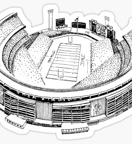 Shea Stadium - New York Jets/Mets Stadium Sketch Sticker