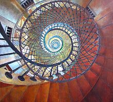 Spiral Staircase by Elizabeth D'Angelo