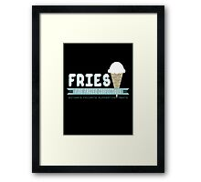 Fries Fine Frozen Confections - Mr. Freeze Framed Print