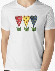Hearts Hearts Hearts Mens V-Neck T-Shirt