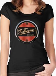 Velocette Vintage Motorcycles England Women's Fitted Scoop T-Shirt