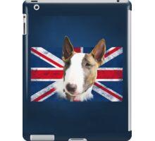 Bull Terrier BETTY Bullterrier UK grunge FLAG // navy iPad Case/Skin