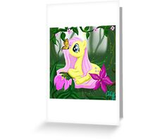 Fluttershy's Secret Garden Greeting Card