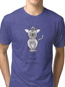 Satancat has one true master Tri-blend T-Shirt