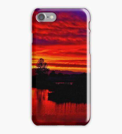 Sunset at Golden Garden Ponds  iPhone Case/Skin