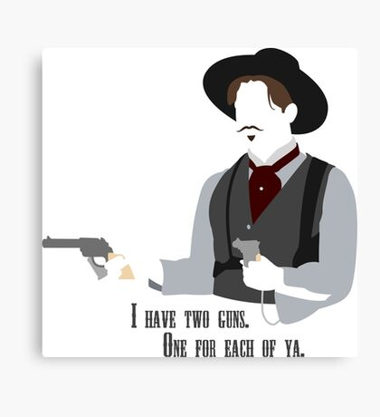 Tombstone: Two Guns Canvas Print