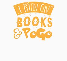 I run on books and PoGo Womens Fitted T-Shirt