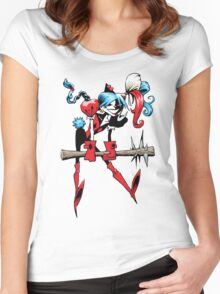 Harlequin Girl Women's Fitted Scoop T-Shirt
